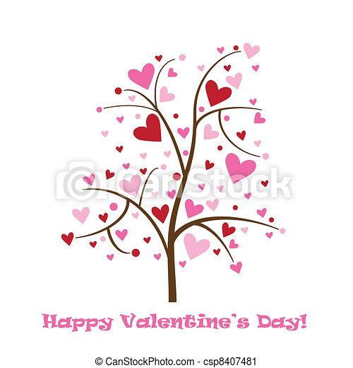 Happy Valentine's Day Card - csp8407481