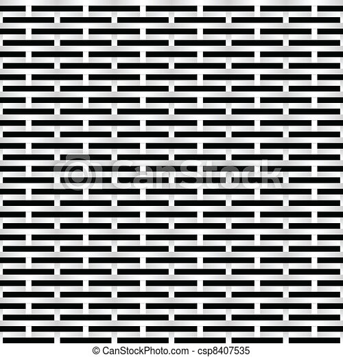 Black and white Grid - csp8407535