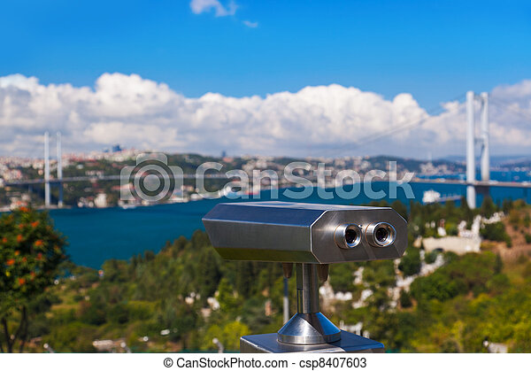 Bosphorus bridge in Istanbul Turkey - csp8407603
