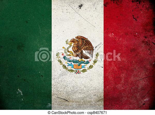 Grunge Flag the Mexico - csp8407671