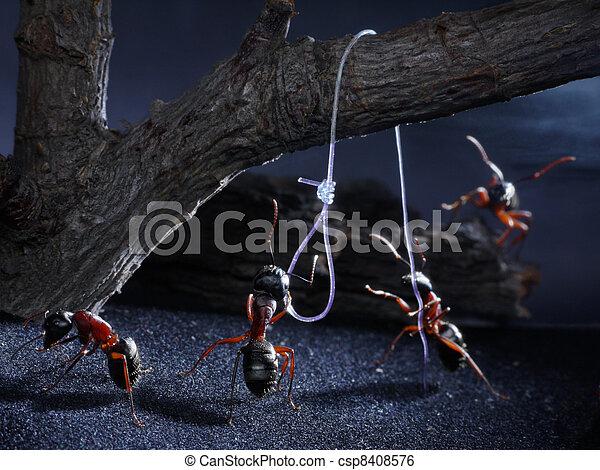 ants lynch law, thriller - csp8408576