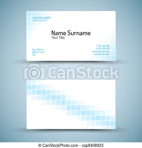 Set of modern vector business card template - csp8408923