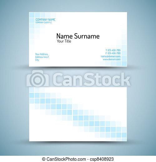 Set of modern vector business card template - csp8408923