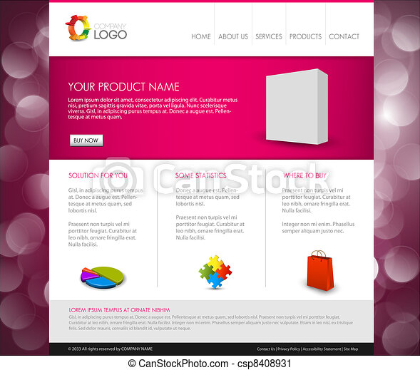 Vector Modern product homepage template - csp8408931