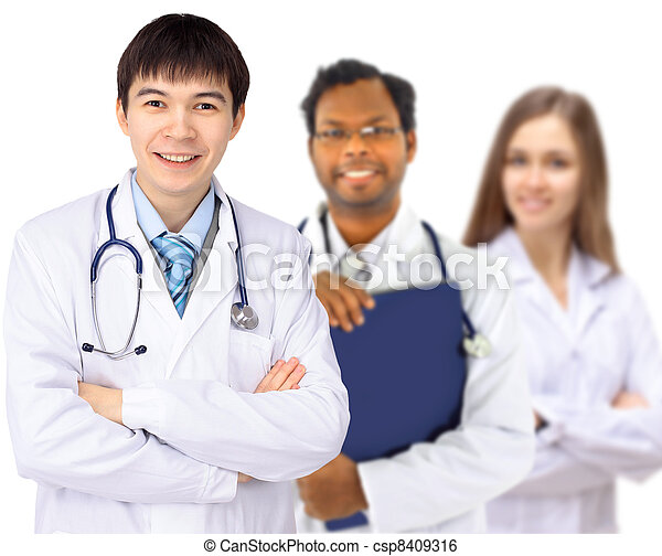 The doctor and interns - csp8409316