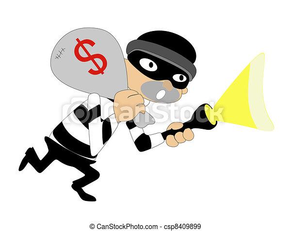Thief caught while running away - csp8409899