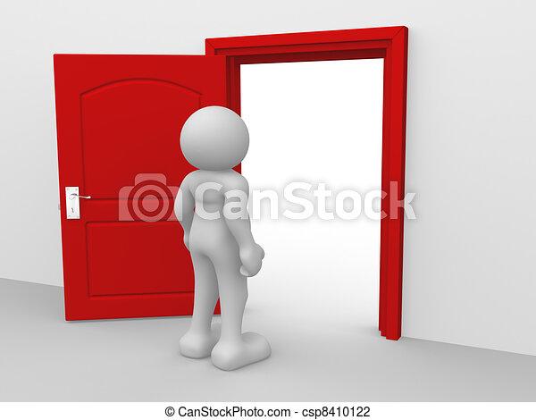 Door Opening Drawing Open Door Csp8410122