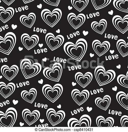 Vektor Clip Art av hjärta, bakgrund - hjärtan, bakgrund ...