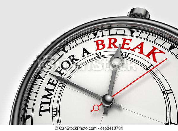 time fora break concept clock - csp8410734