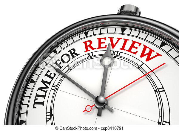 time for review concept clock - csp8410791