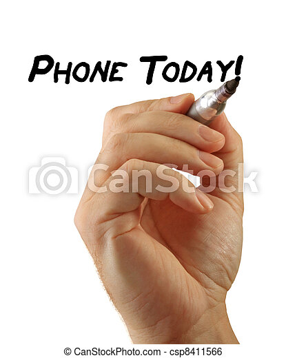 Hand Writing Power Phrase Phone Today - csp8411566
