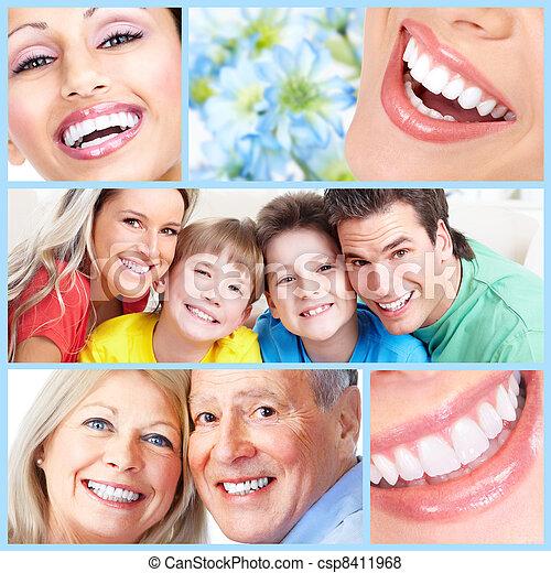 Happy people smile. - csp8411968