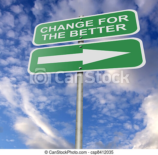 Street Road Sign Change For The Better - csp8412035