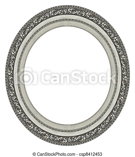 Oval silver picture frame - csp8412453