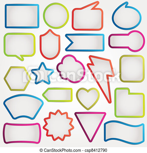 Speech bubbles  - csp8412790