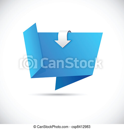 Origami blue wallpaper. - csp8412983