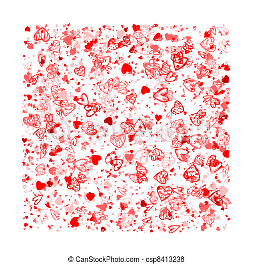 Vector of Valentine background for your design csp8413238 - Search ...