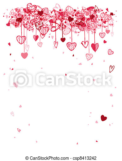 Valentine frame design with space for your text - csp8413242