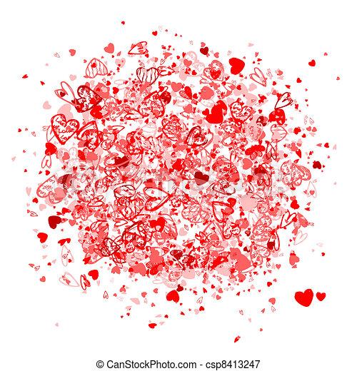 Valentine frame for your design - csp8413247