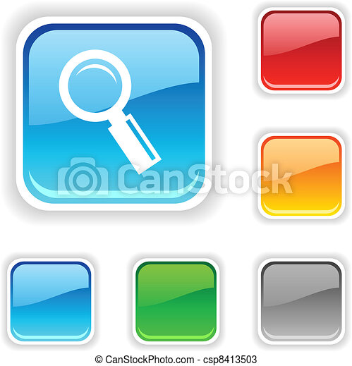 Searching  button. - csp8413503
