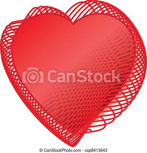 Valentine Red love heats - csp8413643