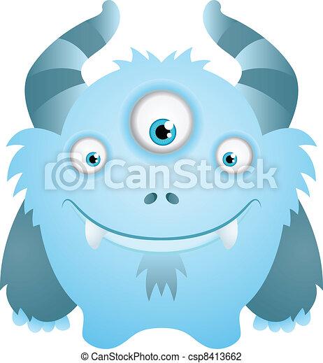 Cute Cartoon Character - csp8413662