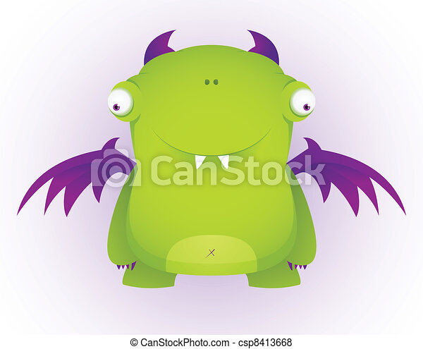 Cute Cartoon Character - csp8413668