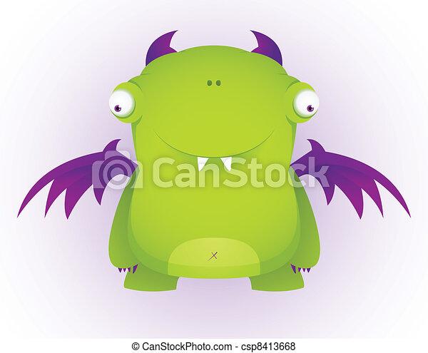 Cute Cartoon Character - csp8413668