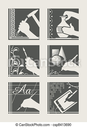 set of art occupation - csp8413690