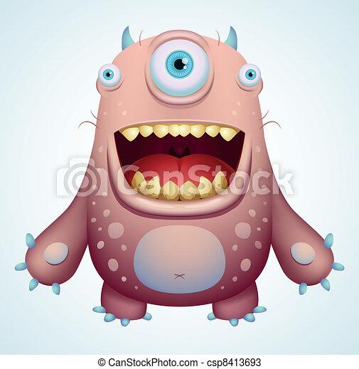 Happy Monster - csp8413693