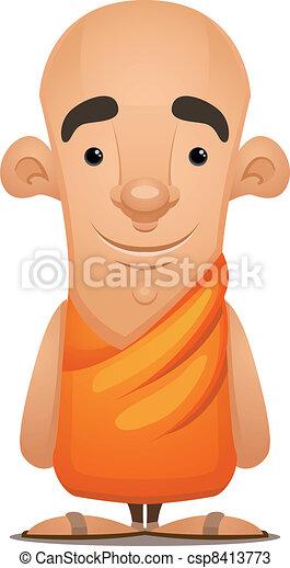Zen Monk - csp8413773