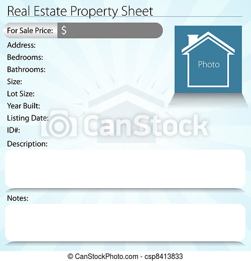 Real Estate Property Sheet - csp8413833