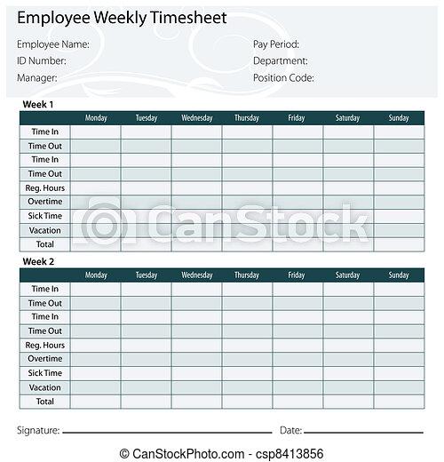 Employee Timesheet Template - csp8413856