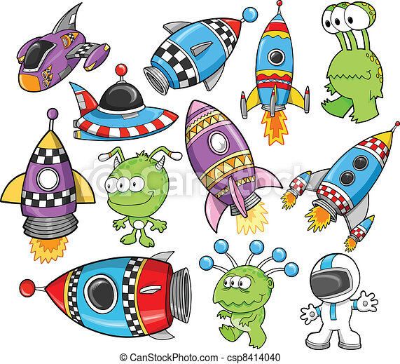 Cute Outer Space Vector Design set - csp8414040