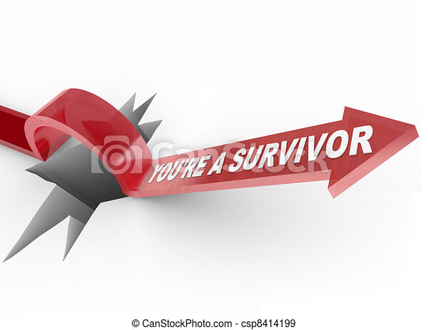 You're a Survivor Resilient Arrow Jumping Over Hole - csp8414199