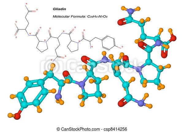 gliadin molecule, component of gluten - csp8414256