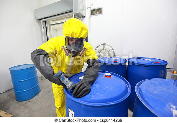 Professional dealing with chemicals - csp8414269