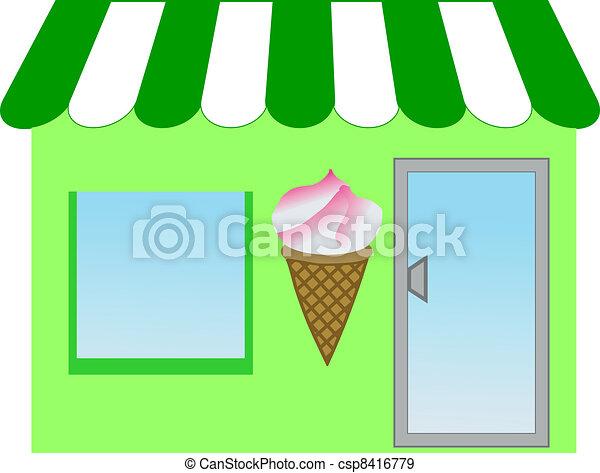 ice cream shop - csp8416779