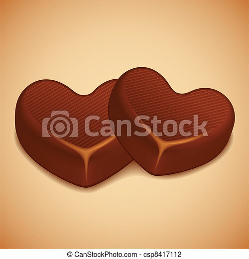 Heart Shaped Chocolate - csp8417112