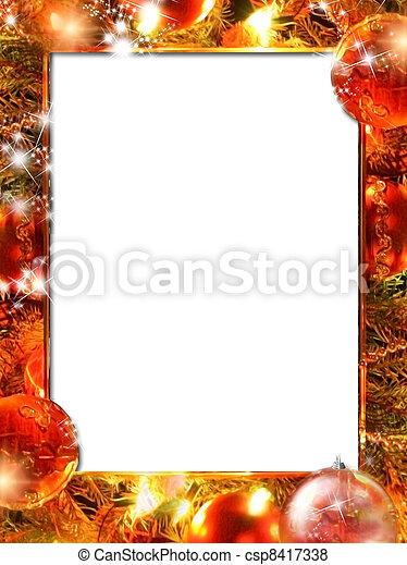 Christmas lights frame - csp8417338