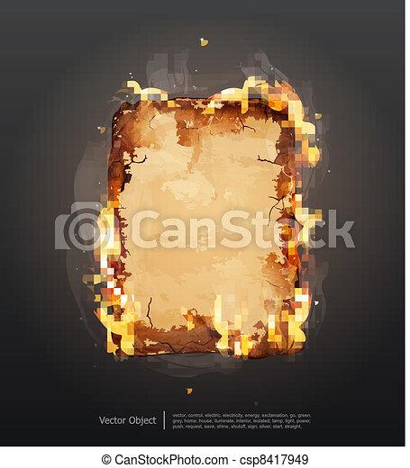 glowing ancient parchment  - csp8417949