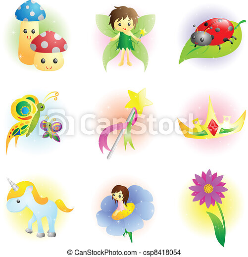 Fantasy fairy icons - csp8418054