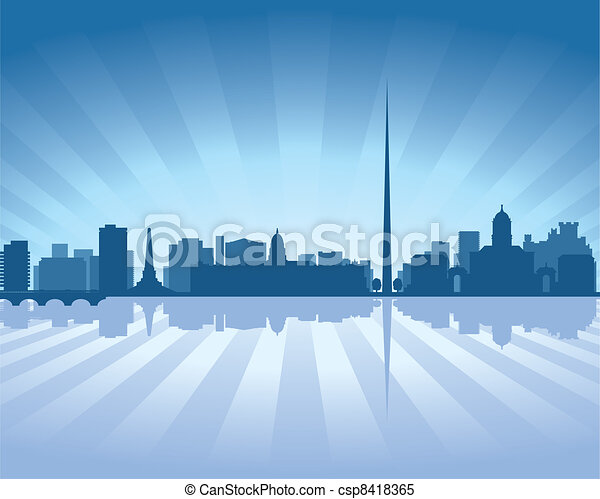 Dublin, Ireland skyline - csp8418365