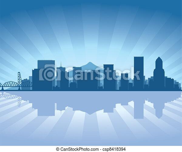 Portland skyline - csp8418394