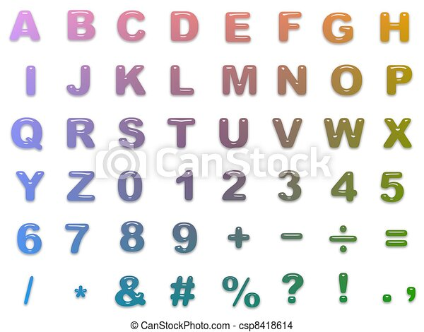 Rounded colour alphabet - csp8418614