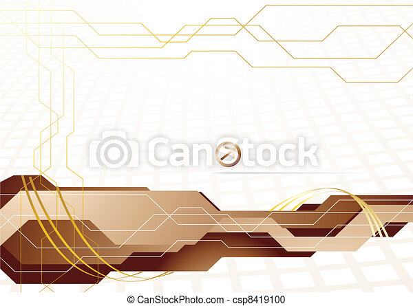 Vector hi-tech template in gold color - csp8419100