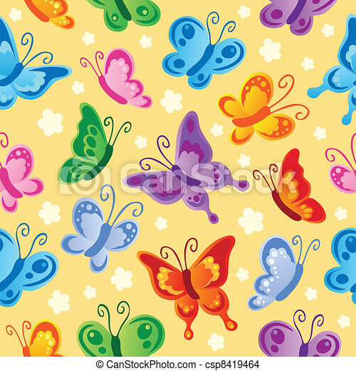 Butterfly seamless background 1 - csp8419464