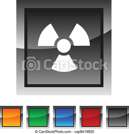 Radiation icons. - csp8419820