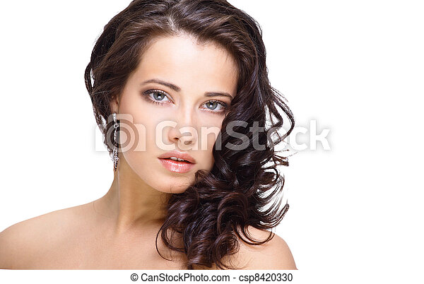 Portrait of young adult woman  - csp8420330