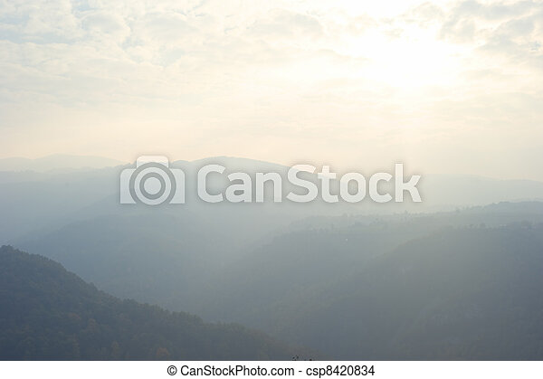 Balkan Mountains in the fall - csp8420834